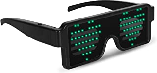 GREEN LED Flash Glasses 8 Adjustable Patterns Luminous Flashing Shades Eye Wear For Birthday Party Bashes Corporate Events...