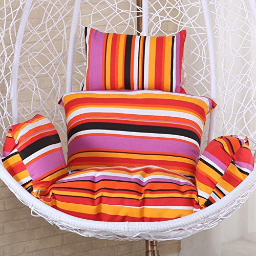 Multi-color Soft Hanging Egg Hammock Chair Cushion,Egg Nest Chair Cushion Pad,Not-slip Swing Hanging Basket Seat Cushion