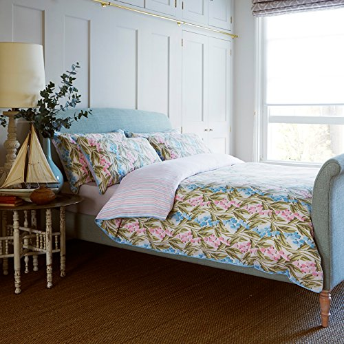 Ditton Hill Bluebell Multi Floral Blue Pink 100% Cotton Single Duvet Cover Set