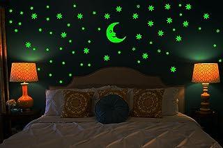 Dreamkraft Galaxy of Stars Radium Glow in The Dark Wall Sticker (Vinyl, 30X15x0.8 cm, Green)