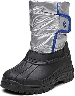 Orlancy Kids Boys Waterproof Winter Mid Calf Snow Boots