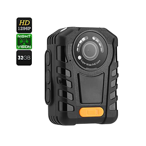 Full HD 1296P Body Cameras for Law Enforcement with Night Vision, 2 Inch Display Built