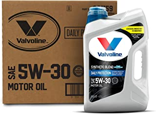 Valvoline Daily Protection SAE 5W-30 Synthetic Blend Motor Oil 5 QT, Case of 3