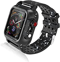 Realproof Waterproof Apple Watch Case 44MM Series 5 / 44MM Series 4 with Premium Soft Silicone Band, Dropproof Shockproof Impact Resistant Rugged Protective Apple Watch Case Bulit-in Screen Protector