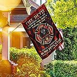Bandera De Jardín 90 x 150 cm, Firefighter Skull 6 Feet Back I Am The Storm Flag, Premium Pancarta Al Aire Libre Banderas Artificiales para El Hogar para Estreno De Una Casa Exterior/Interior
