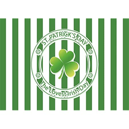 Patricks Day Lucky Irish Shamrock Green Four-Leaf Clover Painted ...