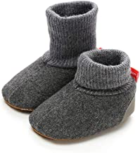 Z-T FUTURE Unisex Baby Winter Shoes Girls Boys Elastic Cute Crochet Snow Boots Toddler Girl Crib Shoes 0-18 Months
