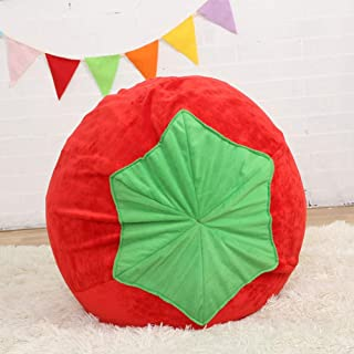 sofa Cute Tomato Shape Kids Chair Soft Plush bean bag Toddler Furniture for Living Room Bedroom