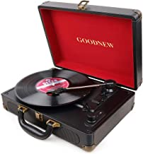 GOODNEW Vinyl Record Player Turntable, Built in Speakers, Support Headphone & RCA Outputand AUX (3.5mm) Input Jack & Bluet...