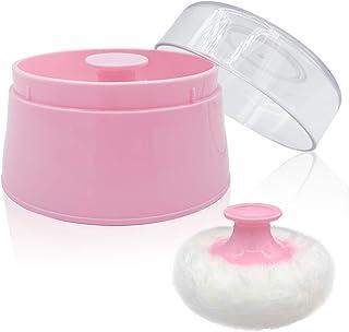 جعبه پودر پودر کودک BPA Free ، بزرگ پودر بعد از حمام بدن 2.8 اینچ ، ظروف پودر پودر صورت / بدن مراقبت از کودک ، ظرف پودر لوازم آرایشی و بهداشتی تالک با نگهدارنده دست (صورتی)