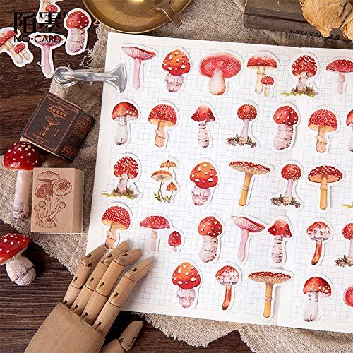 BLOUR 45 Stück/Packung Kawaii Mushroom Decorative Scrapbooking Craft Sticker Tagebuch Tagebuch Sticker Adhesive