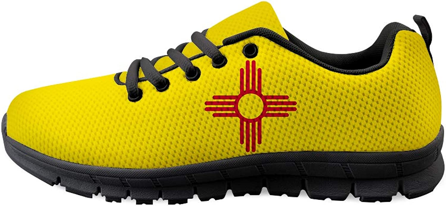 Owaheson Laceup Sneaker Training shoes Mens Womens New Mexico Flag