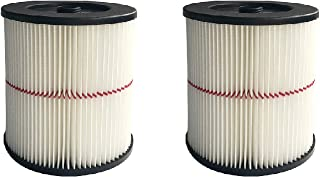 Nispira Replacement HEPA Filter Compatible with Craftsman Red Stripe Shop Vacuum Wet/Dry Vacs Vacuum. Compared to Part 17816 9-17816. 2 Filters