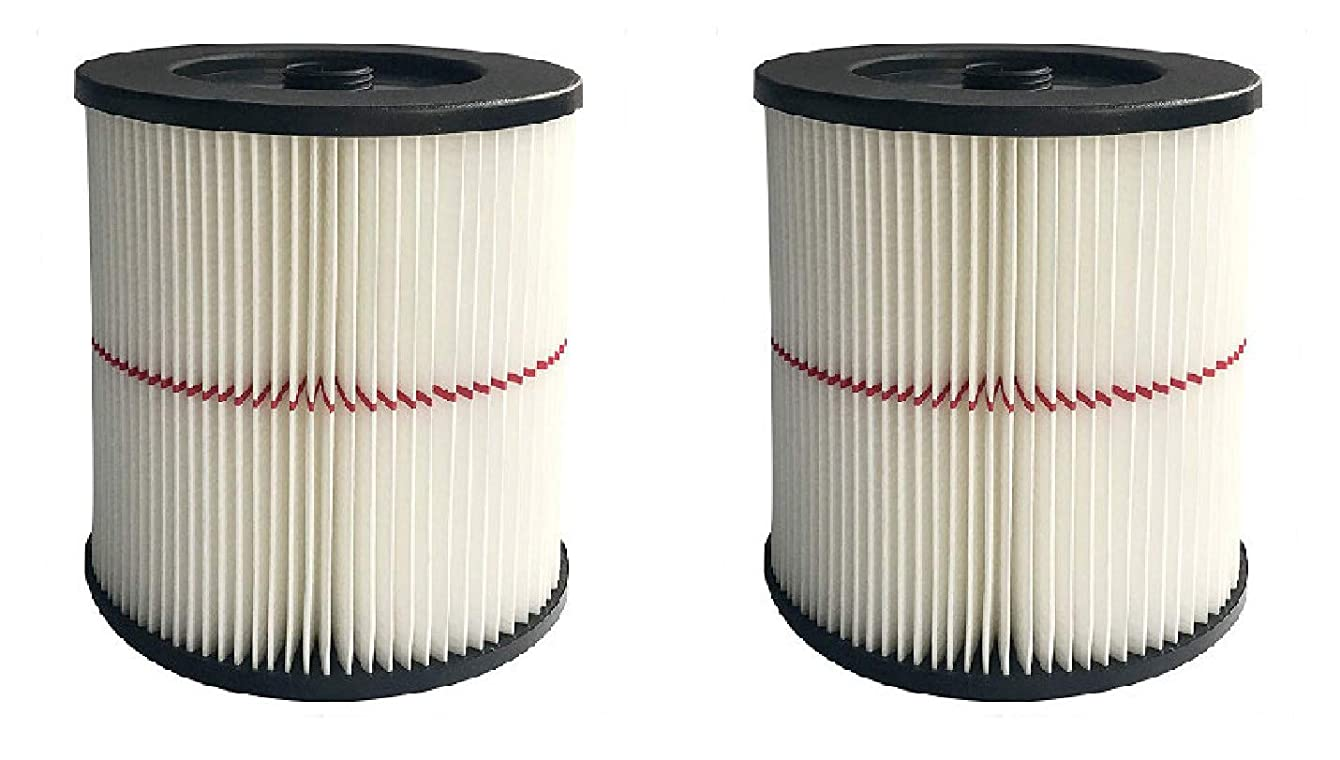 Nispira Replacement HEPA Filter Compatible with Craftsman Wet/Dry Vacs Vacuum. Compared to Part 9-17816. 2 Filters qyckxirgitfdl70