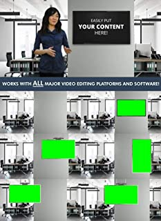 Sponsored Ad - Contemporary Office Green Screen Virtual Set