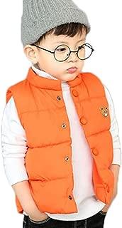 LANBAOSI Baby Girls&Boys Winter Cute High Neck Vest Lightweight Puffer Sleeveless Jacket