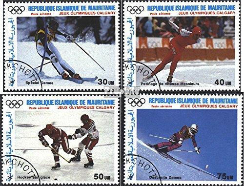 Prophila Collection Mauritania 912-915 (Completa Edizione) 1988 Medaglie d'oro (Francobolli per i Collezionisti) Sport Invernali