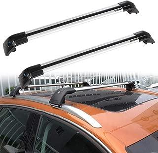 ROADFAR Roof Rack Aluminum Top Rail Carries Luggage Carrier Fit for 2016 Lincoln MKX,2005-2017 Suzuki Grand Vitara,2014-2016 Toyota Highlander,2016 Volvo XC90 Baggage Rail Crossbars