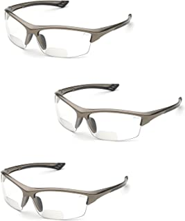 Elvex RX-350 Diopter Safety Glasses (3 Pair) (1.5 Clear Lens)