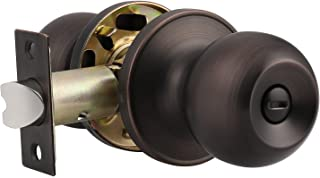 Probrico Bath/Bed Ball Door Knobs Privacy Door Knob Oil Rubbed Bronze Finish (1Pack)