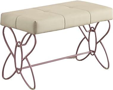 ACME Furniture 30542 Priya II Bench, White & Light Purple