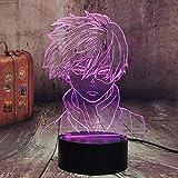 My Hero Academia 3D Night Light Shoto Todoroki Figure Desk Lamp Bedroom Decor Lampara Led Touch Sensor Room Lighting Anime Led Colorful Night Light Child Fans Christmas Toys (Shoto Todoroki)
