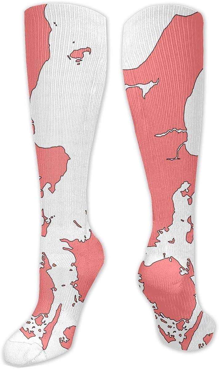 Denmark Blank Knee High Socks Leg Warmer Dresses Long Boot Stockings For Womens Cosplay Daily Wear