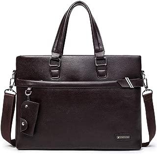 """Mens Bag Mens Zip up Bag PU Leather Messenger Bag 13""""Laptop Briefcase Satchel Shoulder Handbag Bookbag w Strap High capacity"""