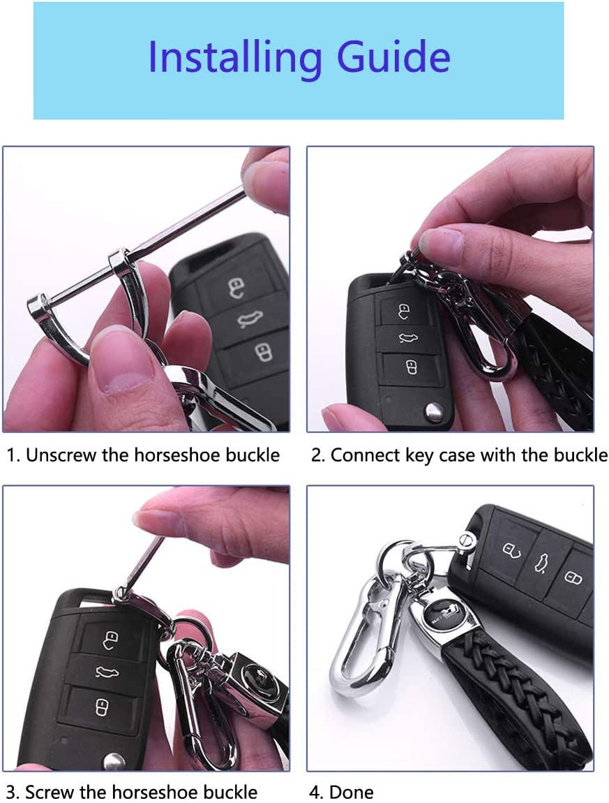 Pink JINAN JiangSales Car fit Chevrolet Key Chain Keychains Leather Braided Weave Key Lanyard Key Ring Car Accessories