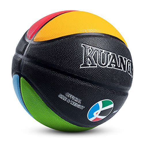 Find Discount Kuangmi Olympic Colors Basketball Size 3,4,5,6,7 for Baby Child Boys Girls Youth Men W...