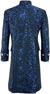 Men Steampunk Vintage Jacket Halloween Costume Gothic Frock Uniform Coat Long Sleeve Medieval Costume
