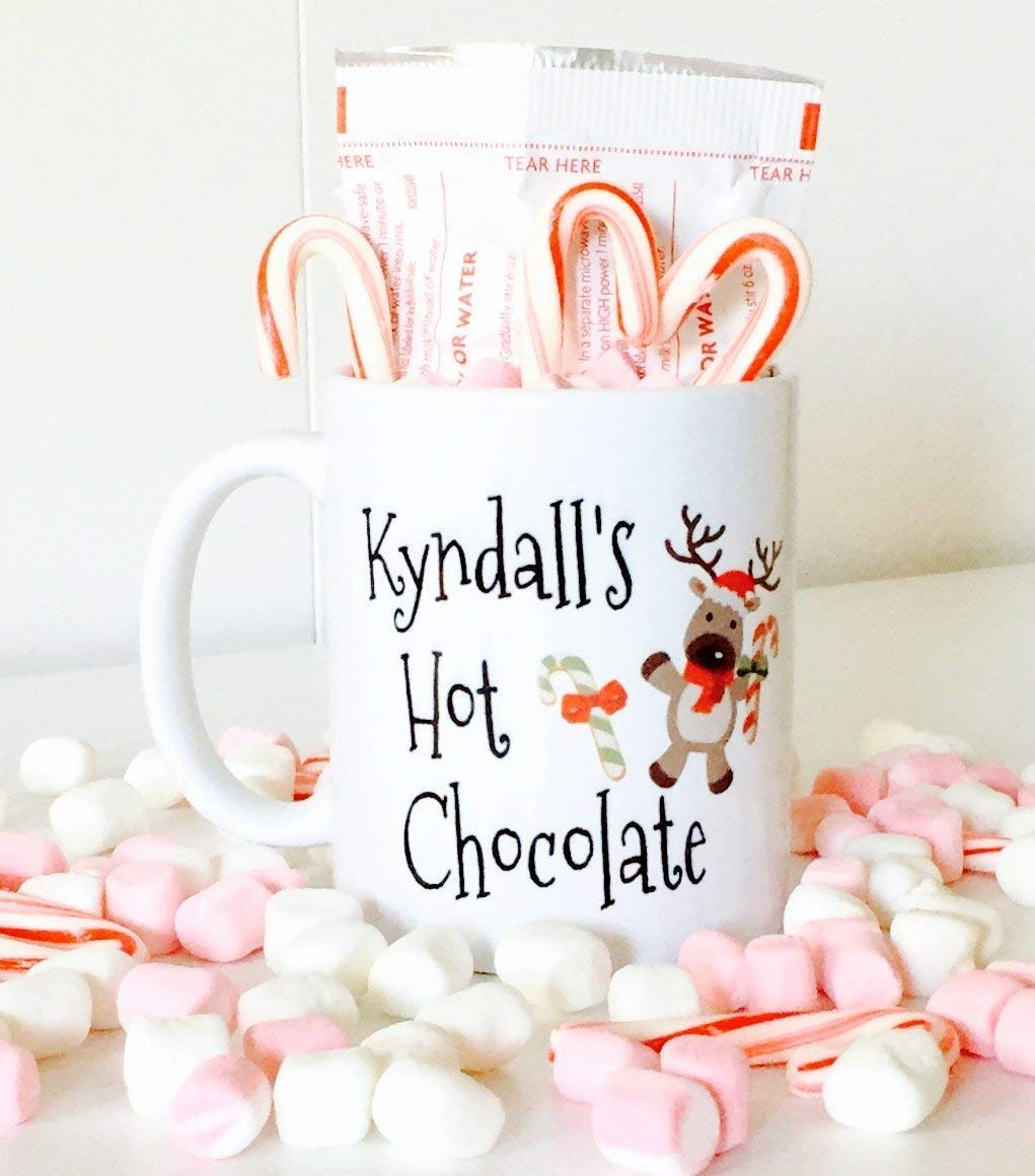 Personalized Hot Max 76% OFF Chocolate Mug Outlet sale feature Reindeer with Kids for