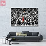 GoGoArt ROLL Canvas print wall art giclee home decor picture photo big poster abstract modern (no framed no stretched not oil painting) Michael Jordan Last Shot nba sport Chicago bulls ab A-0015-1.5