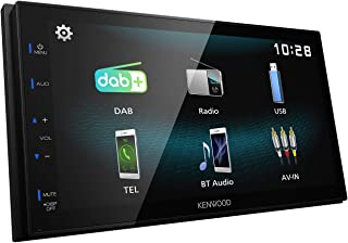 Kenwood Car Audio DMX-125DAB Digital Media AV Receiver, with Wired Android Auto and Apple Car Play photo