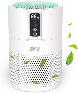 Purificador de aire Anion, DIKI filtro de aire HEPA inteligente con indicador de temperatura y humedad, ultra silenciosos,...
