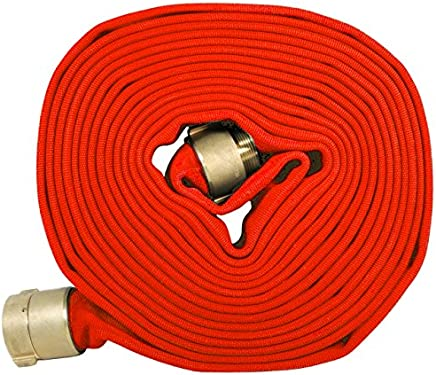 2 ID 650 psi 5Elem 017-0325-06015Elem FAS Series Single Jacket Fire Hose 2.38 OD Polyester//EPDM NST Male x Female Aluminum Connectors White 50/' Length 2 ID 2.38 OD 50 Length