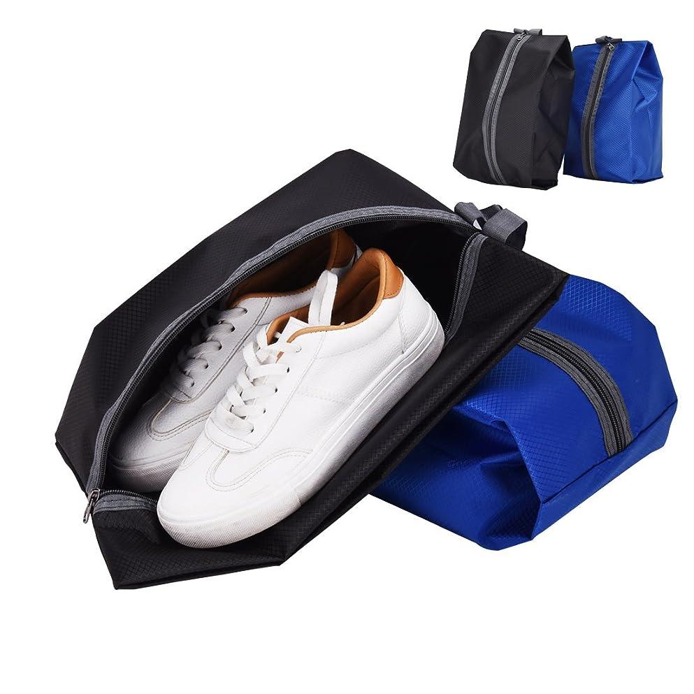 咳参加者ピッチ防水加工たたみ式収納袋 シングルジッパー式 (ブラック、ブルー)