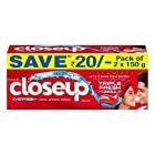 Closeup Ever Fresh Red Hot Gel Toothpaste - 150 g (Pack of 2, Save Rupees 20)
