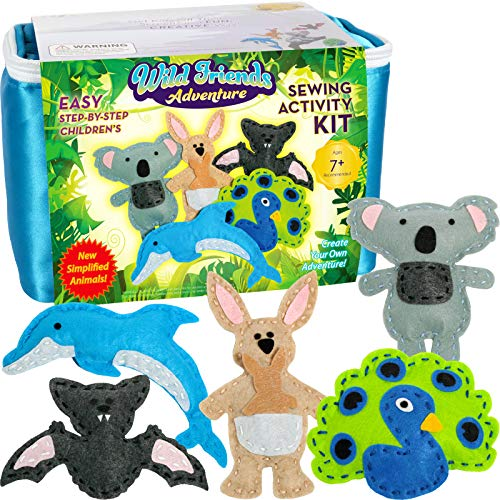 Product Image of the Four Seasons Crafting Kids Sewing Kit and Animal Crafts - Fun DIY Kid Craft and...