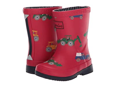 Joules Kids Welly Print (Toddler) (Red Vehicles) Girl