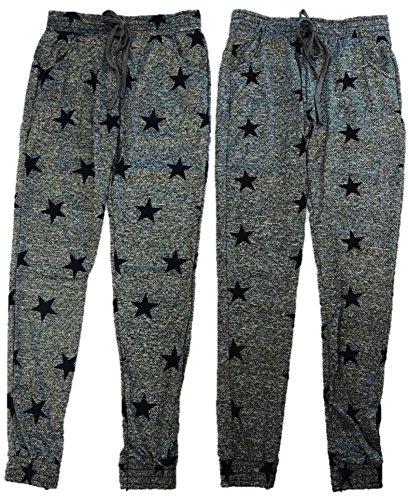 Lot de 2 leggings pour femme avec étoiles Taille XS-M XS gris