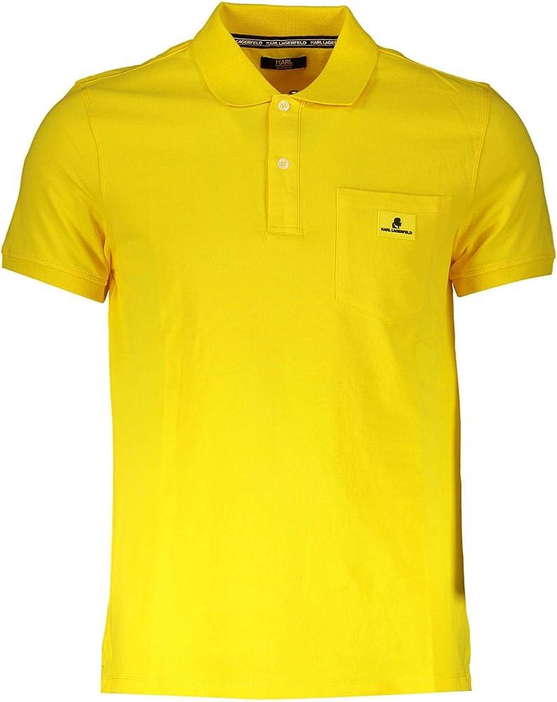 Karl lagerfeld  polo, t-shirt ,maglietta per uomo,95% cotone,5% elastan, taglia l KL19MPL01-YELLOW-L