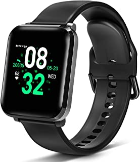 BlitzWolf Smart Watch, Smartwatch IP68 Waterproof, 1.3 inch HD Screen Activity Fitness Trackers with Heart Rate Monitor, Step Counter, Sleep Monitor, Pedometer Watch for Men Women for iPhone Android