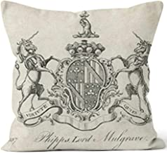 Nine City Coat of arms Phipps Lord Mulgrave Home Decorative Throw Pillow Cover,HD Printing Square Pillow case,28
