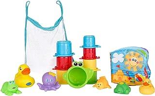 Playgro Badspeelgoedset, 16-delige set, Vanaf 6 Maanden, Meerkleurig