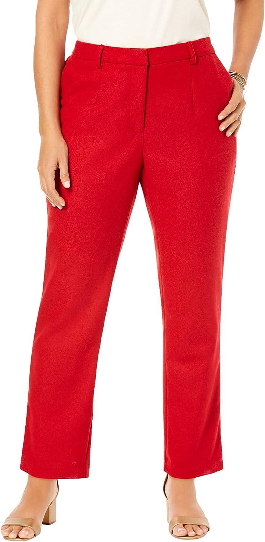 出色 Jessica London Women's Plus Size Trousers 別倉庫からの配送 Wool-Blend