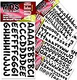 130 St/ück KINDPMA 5 Set Glitzer Buchstaben Sticker Selbstklebend Klebebuchstaben Moosgummi Buchstaben Aufkleber Alphabet Sticker Klebebuchstaben Bunt A bis Z f/ür DIY Handwerk Dekoration Basteln