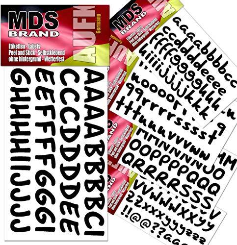 MDS Brand Schreibschrift Buchstaben 2cm Aufkleber für Fotobuch beschriften (Schwarz)