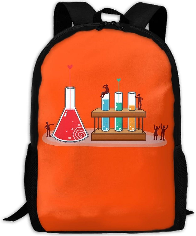 cefcb0af07e9 Backpack Laptop School Bags Chemistry Experiments Daypack Shoulder ...