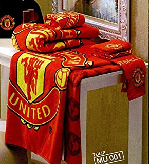 Tamegems Bedding 2 Piece of Towel Set Manchester United Football Club Official Licensed TWMU